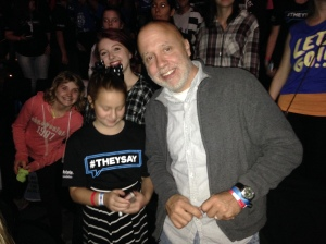 2015-11-3 WE Day - David and girls