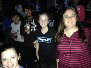 2015-11-3 WE Day Karlin AJ Lily Marcus plus