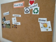 The word Wall from the K-1 class reminds us of what we have learned so far this year.