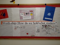 Stop by the hallway and add to our community board; how do you help hold the people and things that matter most to you?